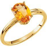 Genuine Citrine Ring