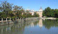 The Royal Palace at Aranjuez which sits directly at the confluence of the Tajo (Tagus) and Jarama rivers.