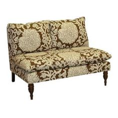 Home Decorators Collection, West End Chocolate Armless Love Seat, 5106ATCHOC at The Home Depot - Mobile