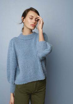 find garn og opskrift i min shop Striped Cardigan, Striped Knit, Long Cardigan, Knit Cardigan, Tweed, Pullover Design, Pullover Shirt, Angora, Ribbed Sweater