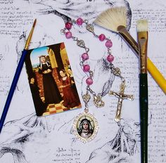 Unbreakable Chaplet of St. Catherine of Bologna - Patron Saint of Artists by foodforthesoul on Etsy