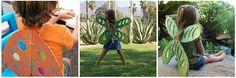 Make cardboard butterfly wings.