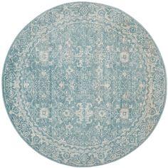 Safavieh Evoke Vintage Light Blue/ Ivory Rug (6' 7 Round)