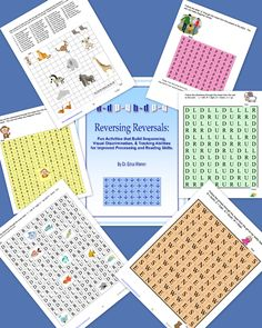 Reversing Reversals is a multisensory colorful digital download or black and white workbook that helps struggling readers develop tracking skills, manage reversals, develop visual discrimination abilities and more. It's ideal for students with dyslexia. Come get some generous freebie samples!