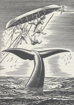 Rockwell Kent (1882 - 1971) woodcut. Kent was famous for his illustrations of Moby Dick. He was also an intrepid traveller and amateur sailor.