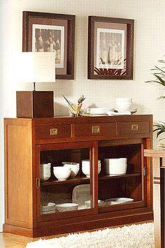 Ador 3 puertas colonial geranium material madera de roble mueble realizado en madera de roble - Samarkanda muebles ...