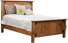 Amish Outlet Store : Prentiss Bed in Oak