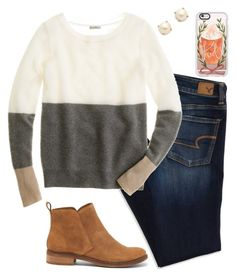 """""""I want it to get cool and for fall to come🍂❤️"""" by mmorgann ❤ liked on Polyvore featuring American Eagle Outfitters, J.Crew, Lucky Brand, Casetify and Kate Spade"""