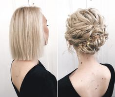 Your wedding look is one of the most important ones, so it should be flawless. With these wedding hairstyles inspired by recent runaways, you will look gorgeous and stylish. All you need is to choose the look that fits you the majority of! Elegant Wedding Hair, Short Wedding Hair, Wedding Hair And Makeup, Short Thin Hair, Short Hair Updo, Short Hair Styles, Headband Hairstyles, Up Hairstyles, Wedding Hairstyles