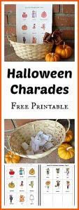 Halloween Charades Free Printable~ Buggy and Buddy