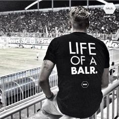 Kristian Adelmund is wearing BALR. in a crowded football football stadium somewhere in Indonesia