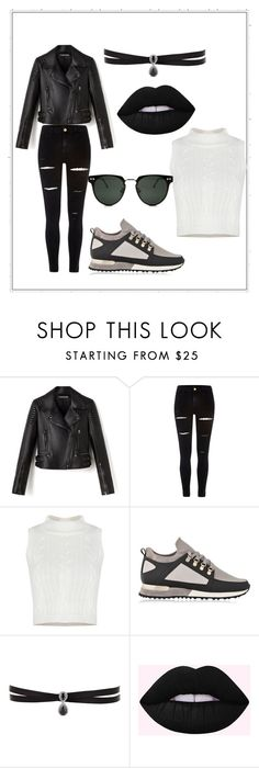 """""""Gothic chic style"""" by diyara718 ❤ liked on Polyvore featuring beauty, River Island, MALLET, Fallon and Spitfire"""