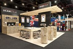 Scandi Play exhibition booth using natural wood - trade show booth by ADM Two - http://www.admtwo.com
