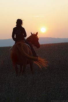 Riding...sunset