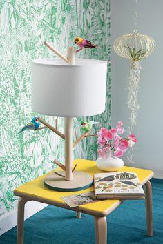 DIY Bricolage : Faire soi-même une lampe perchoir - DIY bird lamp - Marie Claire Idées
