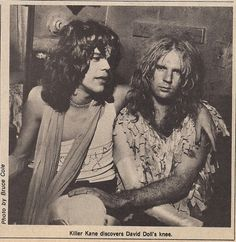 New York Dolls: David Johansen and Arthur 'Killer' Kane, 1974