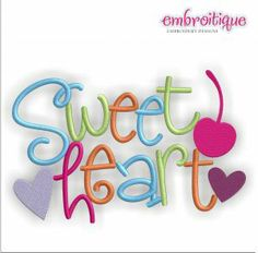 Embroidery Designs (All) - Sweetheart Word Jumble Block on sale now at Embroitique!