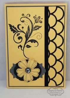 Stampin' Up! Striped Scallop Thinlets, Flowering Flourishes, Pansy Punch