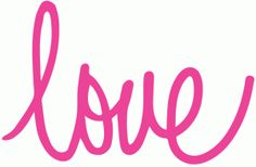 Silhouette Design Store - View Design #56583: cursive love