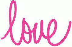 Silhouette Online Store: cursive love