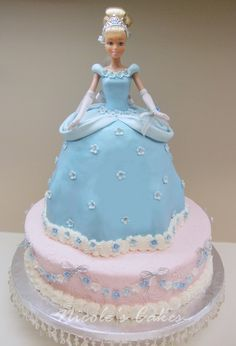 DECIDED NOT TO DO THIS SINCE A 3 YEAR OLD WILL NOT UNDERSTAND US CUTTING INTO HER PRINCESS. Princess Cinderella Cake