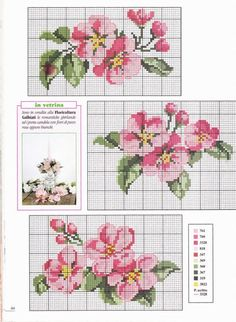 *flowers --- cross-stitch* Would be pretty as a frame Cross Stitch Books, Cross Stitch Heart, Cross Stitch Cards, Cross Stitch Borders, Cross Stitch Flowers, Cross Stitch Designs, Cross Stitching, Cross Stitch Embroidery, Embroidery Patterns