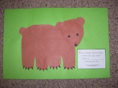 Brown Bear, Brown Bear TLC type project.  This link leads to TLC projects for each character in the book - as well as text for the pages.