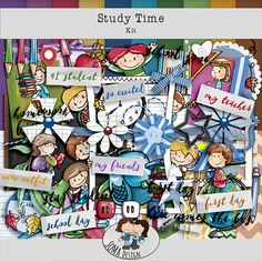SoMa Design: Study Time - Kit Friends Day, My Teacher, School Days, Digital Scrapbooking, My Friend, Study, Kit, Design, Studio
