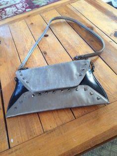 Black Sequined Envelope Steve Madden Clutch And Crossbody Hand Bag NWOT