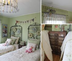 Even though we are in the middle of winter, we are still dreaming of warm spring days. This post is filled with adorable garden inspired girls rooms.