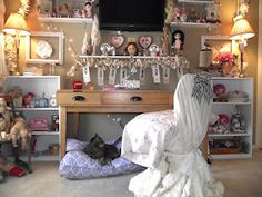 shabby chic craft room/guest room