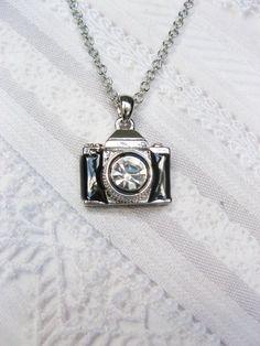 Camera Necklace THE PHOTOGRAPHER Jewelry by by birdzNbeez