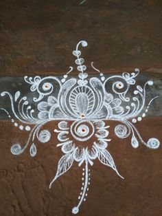 Indian Rangoli Designs, Rangoli Designs Latest, Rangoli Designs Flower, Rangoli Patterns, Rangoli Designs Images, Rangoli Designs With Dots, Flower Rangoli, Beautiful Rangoli Designs, Free Hand Designs