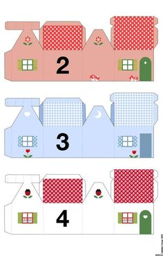 25 little houses to print and assemble  for your advent calendar (free)