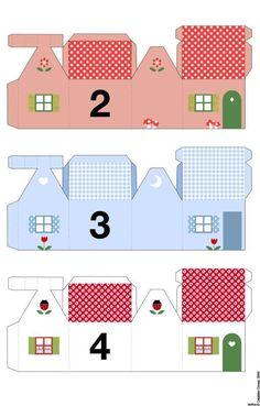 petites maisons pour calendrier de l'avent à imprimer