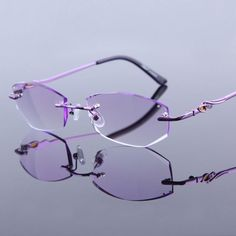 2c943710bcc High Clear Glasses Frame For Women Reading Glasses Crystal Rimless Optical  Eyeglasses Lady Luxury Quality Rhinestone