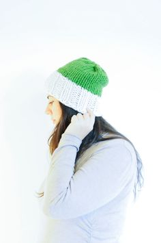 Knit Slouchy Hat / Winter Toque / Fisherman & Grass by daynightrose on Etsy