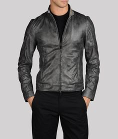 DIESEL® 'Leide' Extra Trim Fit Crinkled Leather Jacket available