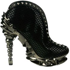 Hades Black Vesper Spinal Heels Cyberpunk Gothic Shoes Ankle Booties 8