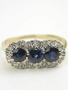 Princess Style Vintage Engagement Ring