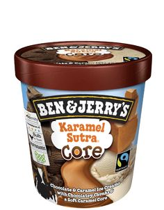 A Core of Soft Caramel Encircled by Chocolate & Caramel Ice Creams & Fudge Chips