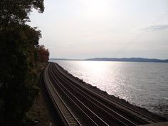 TARRYTOWN NY  train tracks to NYC to NY Central