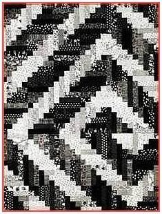 Log Cabin quilts | Oklahoma Twister Quilt - I like the black and white, but just imagine ...