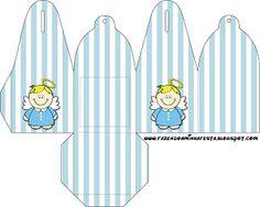 Batizado (Anjinho) Menino - Kit Completo com molduras para convites, rótulos para guloseimas, lembrancinhas e imagens!