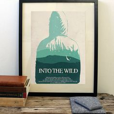 Into the Wild poster, minimalist movie poster free shipping
