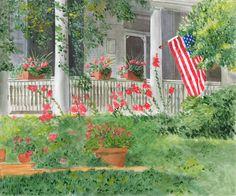 Original Oil Landscape Print Flying the by ArtbyMarguerite on Etsy, $25.00