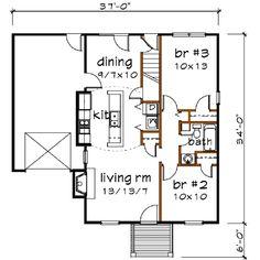900 sq ft house plans 2 bedroom 1 bath Google Search floor plans