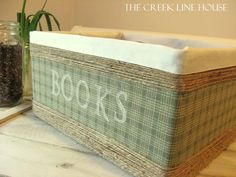 The Creek Line House: Make Your Own Custom Storage Basket!