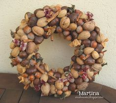 My momma use to make these years ago and give them as gifts. Fall Wreaths, Christmas Wreaths, Christmas Crafts, Christmas Decorations, Christmas Ornaments, Holiday Decor, Pine Cone Crafts, Diy Wreath, How To Make Wreaths