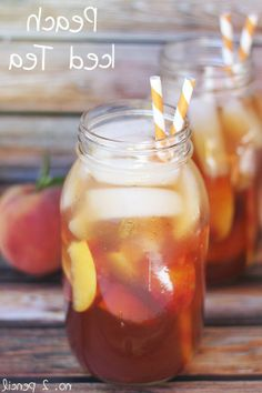 Peach Iced Tea Recipe | See more about iced tea, peaches and teas.